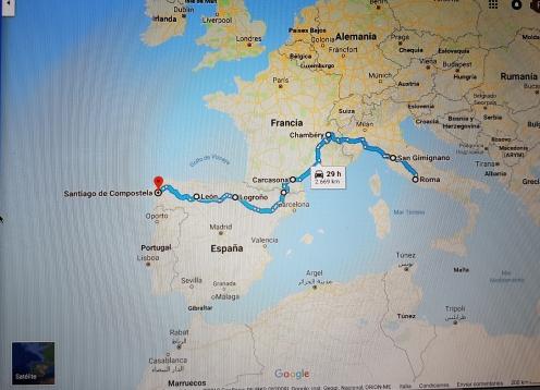 Ruta Roma Santiago de Compostela
